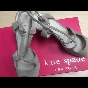 Kate Spade Taupe Suede Heels Size 7.5 M